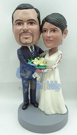 Wedding Couple Arm In Arm Custom Bobble Head 3 | Gift Ideas For Couples