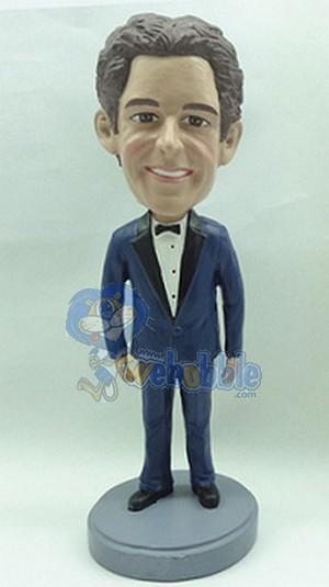 Tuxedo Custom Bobble Head Man (Suit 4) Bow Tie | Gift Ideas For Men