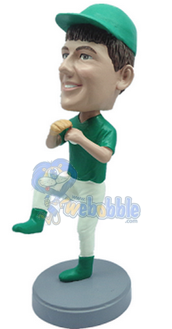 Baseball Pitcher Action pose custom bobblehead doll  3