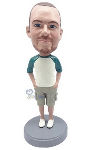 Man in shorts custom bobblehead doll 3