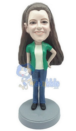 Custom Bobble Head Casual Female 3 | Gifts For Women