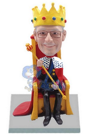 Male King On Throne Custom Bobble Head | Gift Ideas For Men