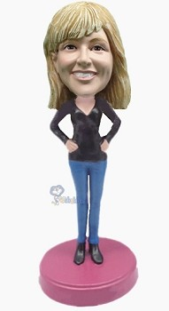 Custom Bobble Head Casual Female 5 | Gifts For Women