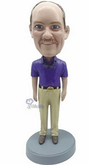 Casual Male custom bobblehead doll 6