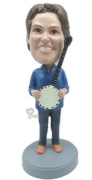 Banjo custom bobblehead doll