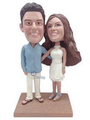 Happy Couple Custom Bobble Head 4 | Gift Ideas For Couples