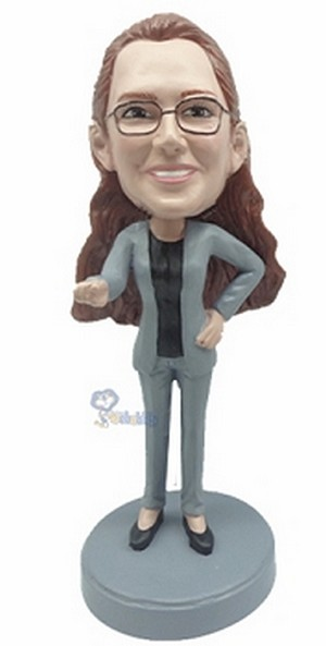 Casual Female custom bobblehead6