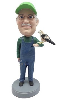Man With Bird Custom Bobble Head | Gift Ideas For Men