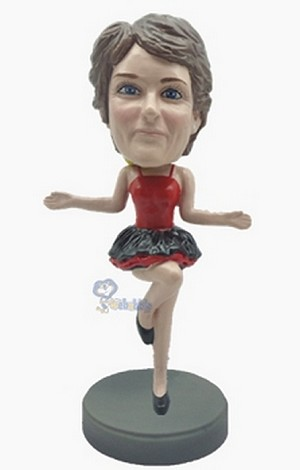 Dancer bobblehead  in black dress custom bobblehead2