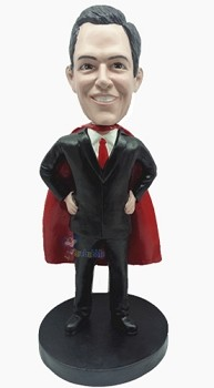 Super boss with cape custom bobblehead doll