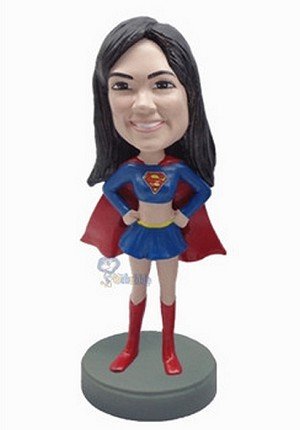 Super Girl custom bobblehead doll 6 Premium
