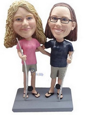 Same Sex Fishing couple custom bobblehead doll