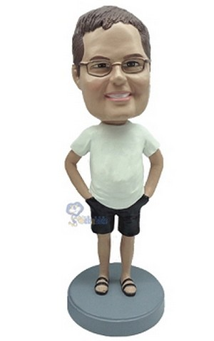 Man in shorts custom bobblehead doll 7