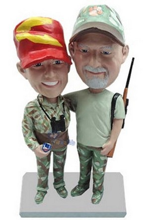 Hunting Couple Custom Bobble Head | Gift Ideas For Couples
