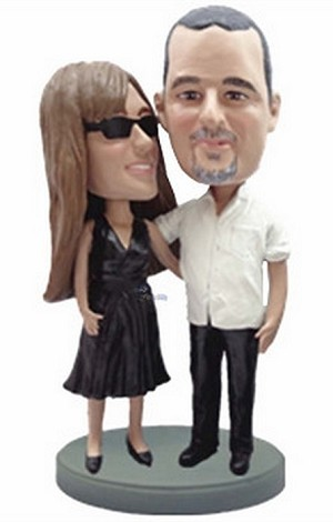 Happy couple custom bobblehead doll 8
