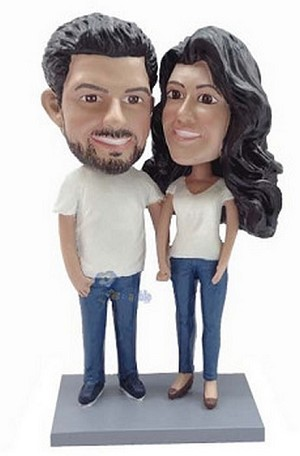 Happy Couple Custom Bobble Head 9 | Gift Ideas For Couples