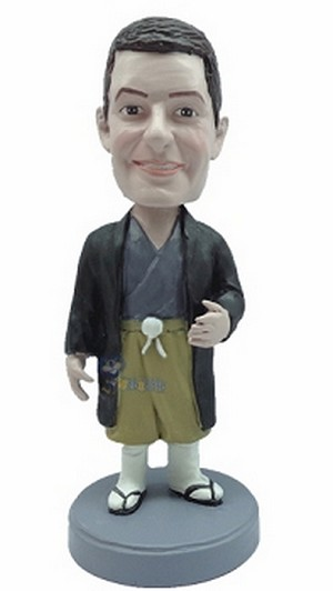 Man in shorts custom bobblehead doll 9
