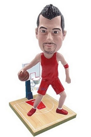 Basketball Player on court custom bobblehead doll  2