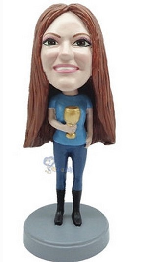 Custom Bobble Head Female With Cup 1 | Gifts For Women