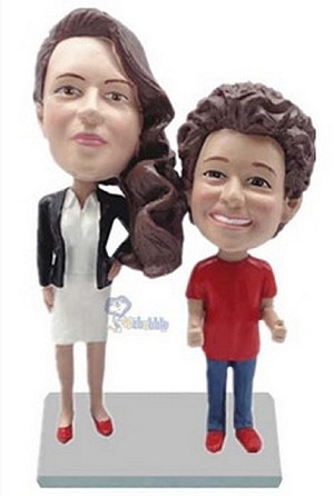 Mother Daughter couple custom bobblehead doll