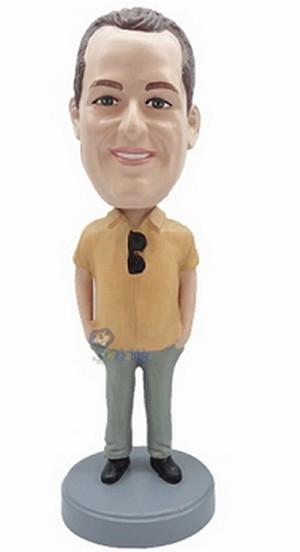 Casual custom bobblehead doll 20