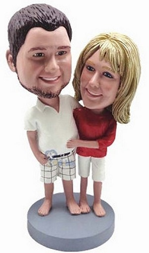 Happy couple custom bobblehead doll 10