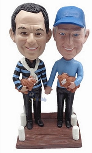 Same Sex Male Couple Custom Bobble Head 2 | Gift Ideas For Couples