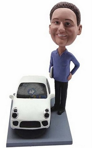 Man With Car Custom Bobble Head2 | Gift Ideas For Men