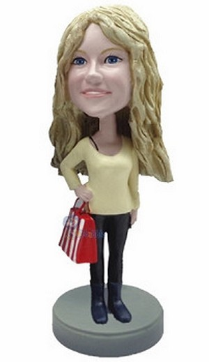 Shopping Girl custom bobblehead doll 3