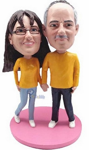 Happy Couple Custom Bobble Head 11 | Gift Ideas For Couples