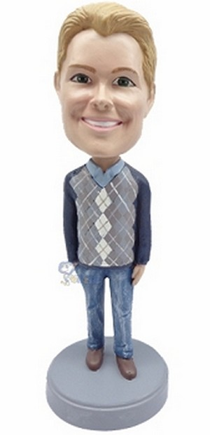 Sweater Casual custom bobblehead doll
