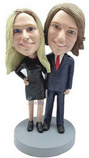 Happy couple custom bobblehead doll 12