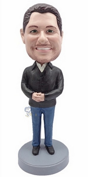 Casual custom bobblehead doll  43