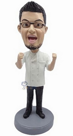 Chef Champion custom bobblehead doll 2
