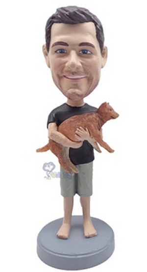 Man With Dog custom bobblehead2