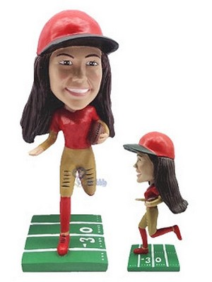 Custom Bobble Head Football Gal 11 | Gifts For Women