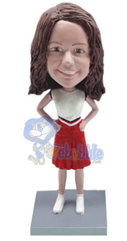 Cheerleader custom bobblehead doll 3