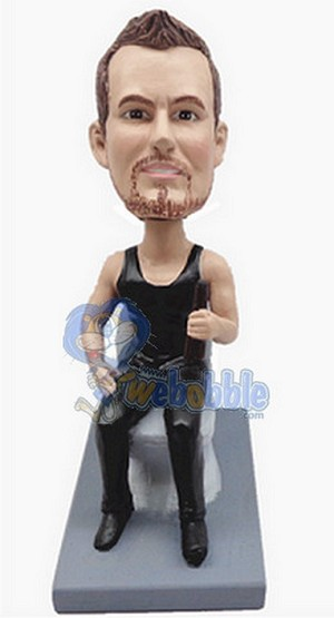 Man On Toilet - Custom Bobble Head 2 | Gift Ideas For Men
