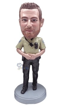 Police man personalized bobblehead doll 5