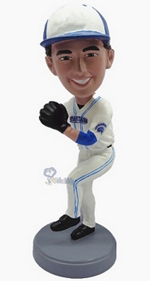 Baseball Pitcher Custom Bobble Head 7 (Bobbing )