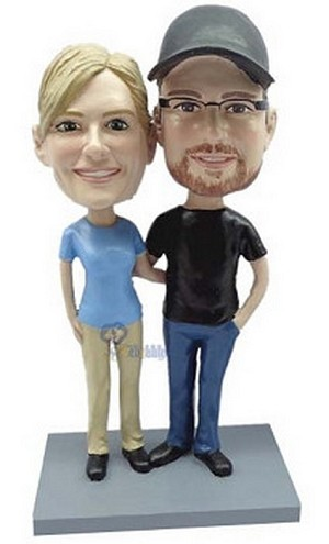 Happy couple custom bobblehead doll 15