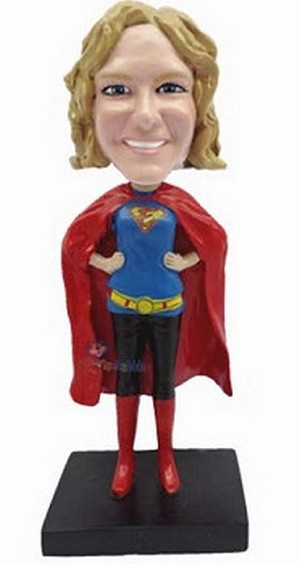 Super Girl custom bobblehead doll 4 Premium