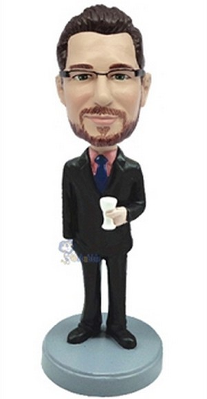 Man With Cup Custom Bobble Head2 | Gift Ideas For Men