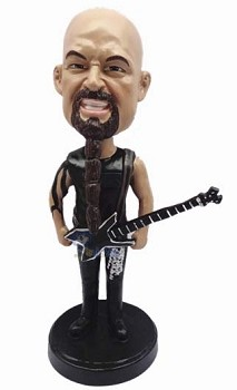 Hardcore Rocker Playing Guitar Custom Bobble Head | Gift Ideas For Men