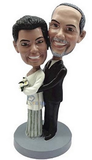 Dressed Up couple custom bobblehead doll 2 (bobbing doll)