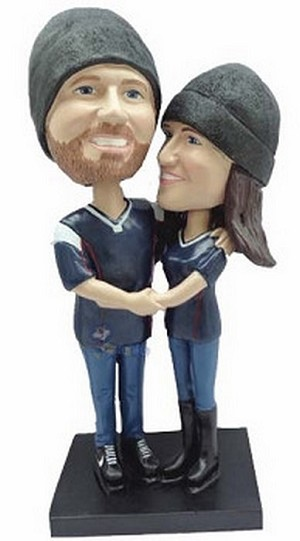 Happy Couple Custom Bobble Head 17 | Gift Ideas For Couples