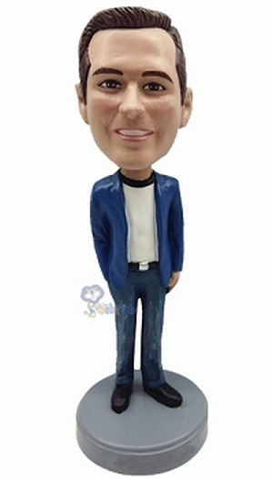Casual custom bobblehead doll  36
