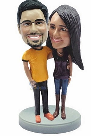 Happy Couple Custom Bobble Head 7 | Gift Ideas For Couples