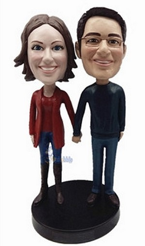 Happy couple custom bobblehead doll 5