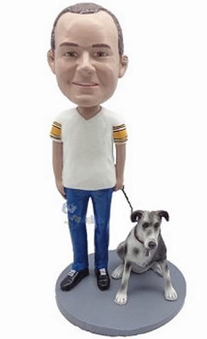 Man With Dog custom bobblehead6